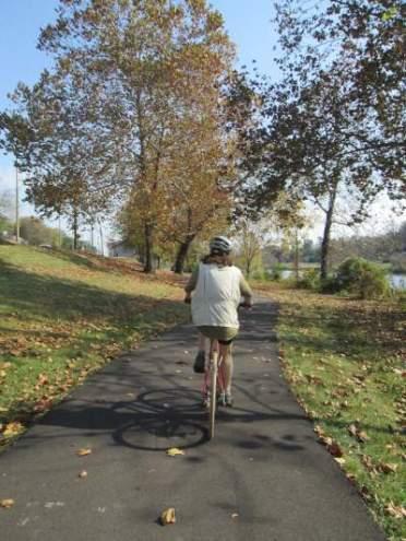 Sandra-Schmid-bicycling-on-Kingsport-Greenbelt-TN-11-2-2016