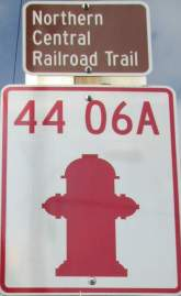 Fire-hydrant-sign-Torrey-C-Brown-Rail-Trail-MD-10-4-2016