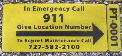 911-sign-Pinellas-Rail-Trail-FL-1-25-2016