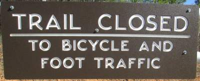 Closed-sign-Lake-James-State-Park-mtn-bike-trail-NC-2-6-2017