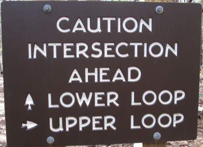 Intersection-sign-Lake-James-State-Park-mtn-bike-trail-NC-2-20-2017