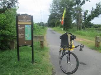 Jim-Schmid's-Bacchetta-Giro-recumbent-Mill-Village-Trail-Augusta-Canal-GA-6-21-17