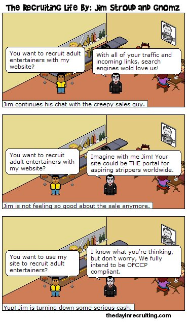 The Recruiting Life - the ONLY comic strip about the recruiting industry.