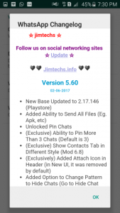 WhatsApp plus JiMODs v5.60 Jimtechs Editions