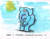 Following George Harrison's postal instruction on the cover of 'Living in The Material World': For all information send a stumped undressed elephant to: 5112 Hollywood Boulevard, Hollywood, California