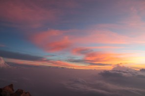 indah nya pagi hari di puncak kerinci