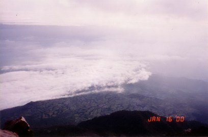 SLAMET VIEW FROM PEAK 2000