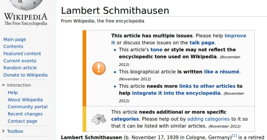 A biography deemed fit for circulation by Wikipedia.