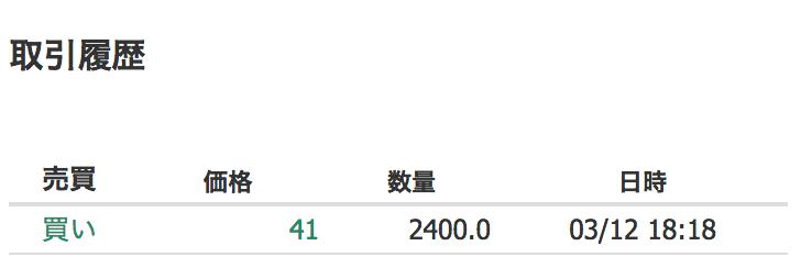 NEM(xem)購入履歴