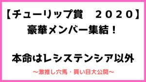 チューリップ賞2020
