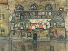 Egon Schiele: Hauswand am Flusss, 1915, 110x140cm