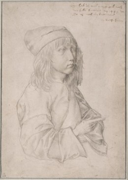 13세 때의 자화상(Self-portrait), silverpoint drawing by the thirteen-year-old Dürer, 1484.