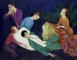 닐스 다르델 ⟨숨져가는 댄디(The Dying Dandy)⟩ 1918년 © Nils Dardel.