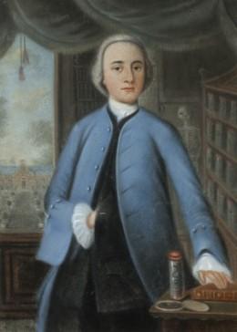 Lambertus Beckeringh, Jr 〈의학대학 학생으로서의 아벨 엡포 반 볼호이스 (Abel Eppo van Bolhuis)〉, 1761년, 파스텔. Collection Groninger Museum.