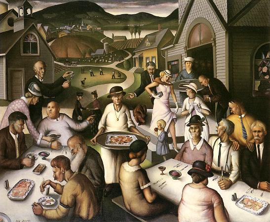 Paul Sample. Church Supper. 1933. Oil on canvas. 102 x 122 cm. (Springfield Museum of Art, Springfield, MA)