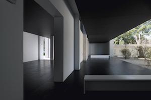 Installation view of Heimo Zobernig's work at the Austrian Pavilion, 2015. Giardini della Biennale, Venice photo: Georg Petermichl