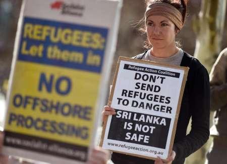 กลุ่มต่อต้านการส่งกลับ 153 ผู้ขอลี้ภัยชาวศรีลังกา