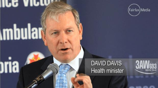 นาย David Davis ร.มต.สาธารณสุขของรัฐวิกตอเรียขณะแถลงข่าว