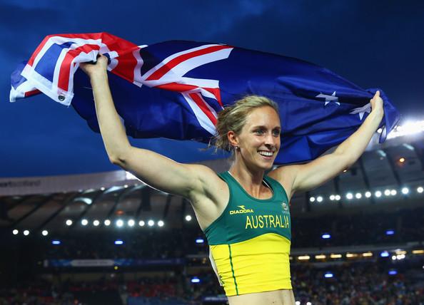 Alana Boyd ชูธงชาติหลังชนะการแข่งขัน