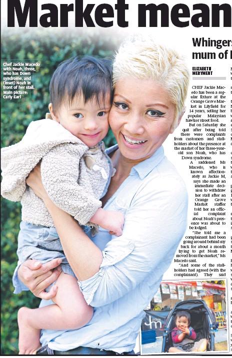 นาง Jackie Macedo กับด.ช. Noah บุตรที่มีอาการดาวน์ซินโดรม