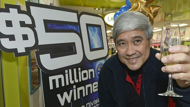 นาย Philip Lu เจ้าของนิวส์เอเยนซี่ที่ผู้ซื้อพาวเวอร์บอลถูกรางวัล 50 ล้านเหรียญ (ภาพชั่วคราวจาก News Limited)