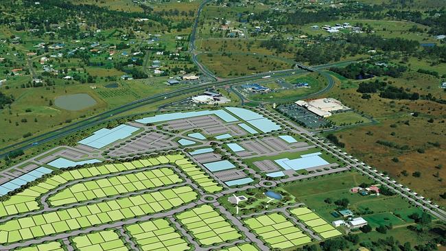 ฟาร์มแห่งหนึ่งที่  Lockyer Valley ภาพจาก news.com