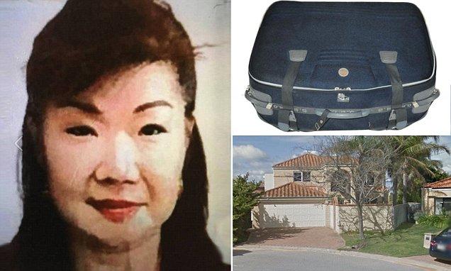 นาง Annabelle Chen กระเป๋าเดินทางบรรจุศพของเธอที่พบลอยแม่น้ำ Swan และบ้านของเธอที่ Mosman Park : ภาพจาก modicannews ไม่ทราบต้นฉบับ