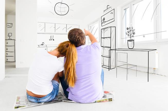 บ้านในฝันของเขาและเธอ : ภาพนี้ใช้กันเกร่อจนไม่ทราบแหล่งที่มาที่แท้จริง