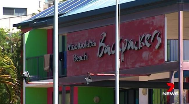 โรงแรมใน Mooloolaba ที่น.ส. Mary Kate Heys และชายคนร้ายต่างแยกกันพักอาศัยก่อนเกิดเหตุ : ภาพจากทีวีข่าว 7 News