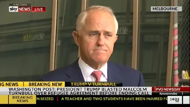 นาย Malcolm Turnbull ถูกทดสอบความเป็นผู้นำ โชคยังดีที่ไม่บ้าจี้ตามผู้นำพรรคเลเบอร์และพรรคกรีนส์ที่เสนอแนะว่าแรงมาให้แรงกลับ ทำให้ยังมีช่องทางออมชอมกันได้ : ภาพจาก Sky News