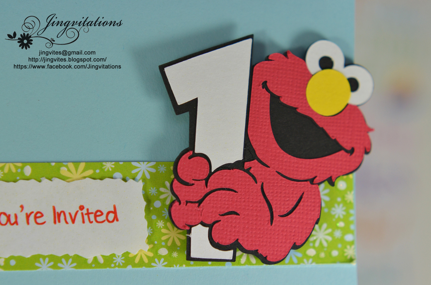 elmo baby cards shower birthday party