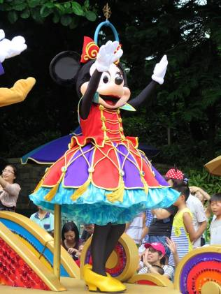 Minnie during the Parade