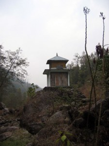 Old shrine by the river