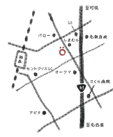 カフェスッコの地図
