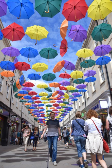 Umbrellas over Bath