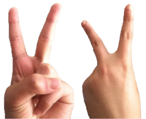 The_v_finger_signs