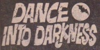 """Dance into Darkness"" logo. The Goth elements incorporate the curse of night and darkness that drives the story."
