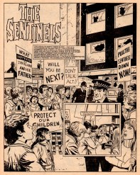 "Hysteria spreads over the troublesome Sentinel in part 10 of ""The Sentinels"". From Misty 1978."