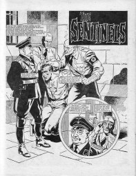 "The horrors of Nazi rule in an alternate reality where Hitler won WW2. From ""The Sentinels"", penultimate episode, Misty #11, 15 April 1978. Art by Mario Capaldi."