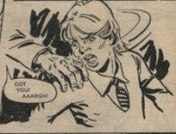 """Lesson here: Never try to restrain someone while they are having an attack. From """"Waves of Fear"""", part 2, 29 September 1979."""
