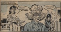 Ma Siddons gets a haircut - done by the poodle's hairdresser! Art by José Casanovas. Jinty 27 September 1975.
