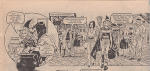 "Sue the witch in ""Sue's Daily Dozen""."