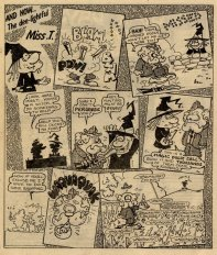 Miss T vs duck hunting, from Misty 1 September 1979.
