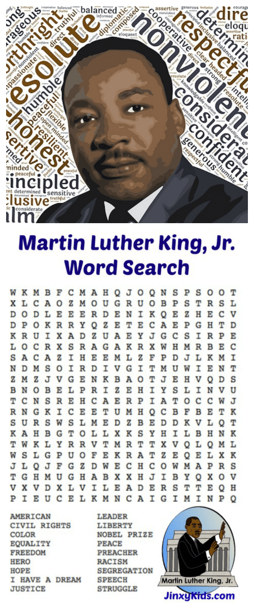 Jr Martin Word Search Luther