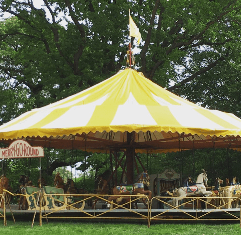 Traveling Carousel All Hallows Guild ~ Washington National Cathedral Gardens