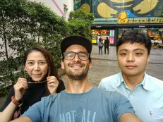 The only tourist with Thai friends, Tom and Ice.