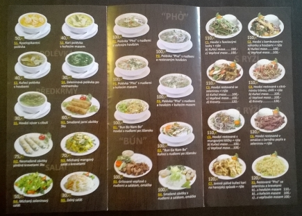 Restaurace Quán Việt - nabídka