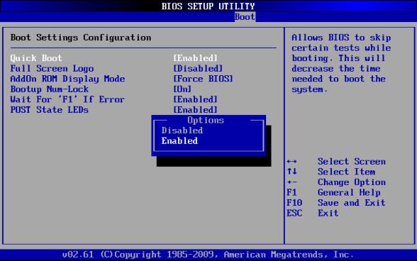 Quick Bootを有効にして起動時間を短縮(AMI BIOS限定)   Windows高速化 ...