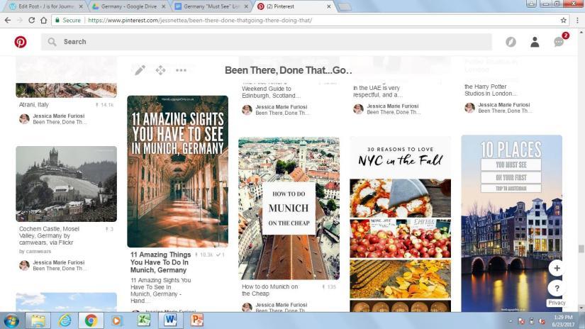 pinterest travel inspiration board