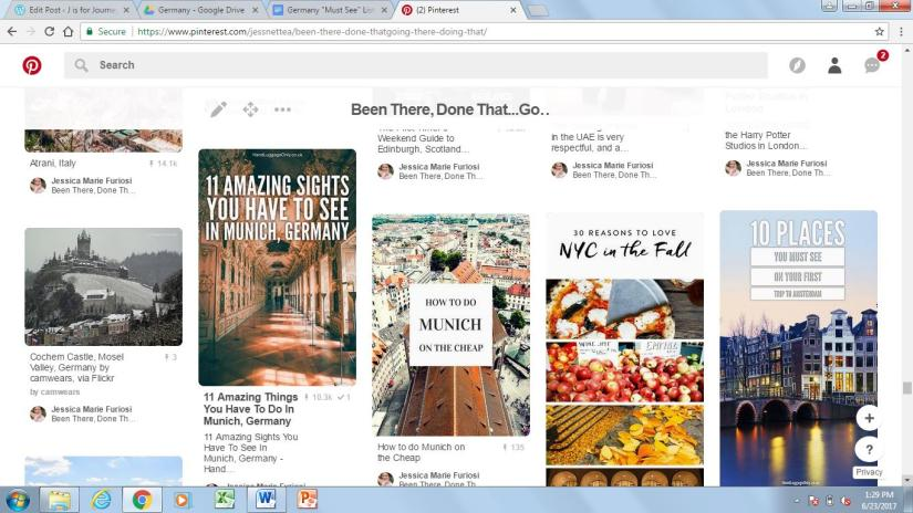 pinterest travel inspiration board